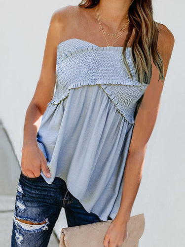 Casual Sexy Style Sleeveless T-Shirt