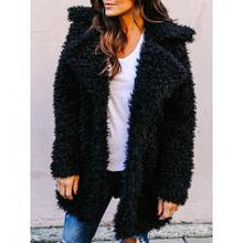 Load image into Gallery viewer, Long Faux Fur Coat