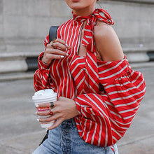 Load image into Gallery viewer, Fashion Stripe Print Long Sleeve Shirt Top