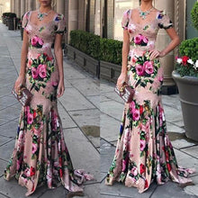 Load image into Gallery viewer, Fashion Sexy floral printed Fishtail Evening Dress Maxi Dress