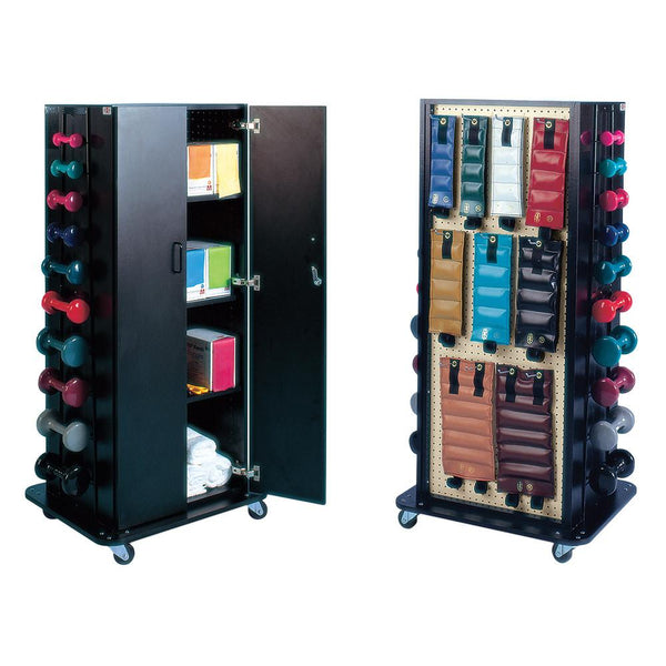 Accessorized Combination Weight Storage Rack