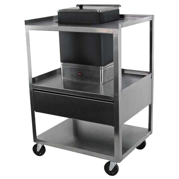 Ideal Service Center Cart with Drawer for E1 Hydrocollator
