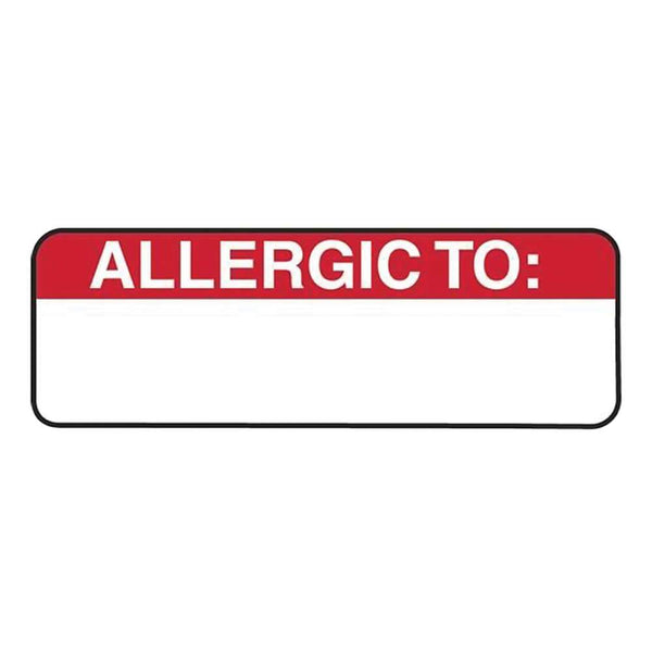 Allergy Warning Medical Labels