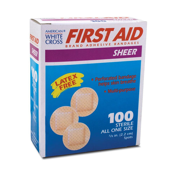 Water-Resistant Sheer Adhesive Bandages