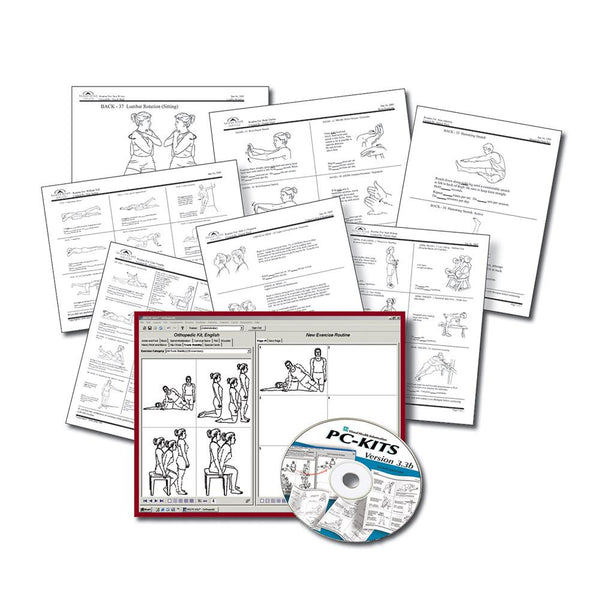 Orthopedic Exercise & Rehab Prescription Card Kit