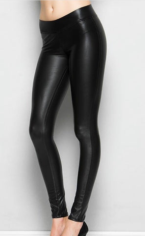 Be Honest Faux Leather Legging