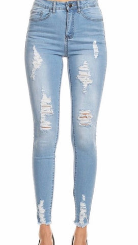 Jenny Highwaisted Distressed Jean