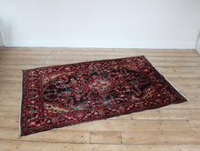 Load image into Gallery viewer, Pink red vintage antique rug carpet