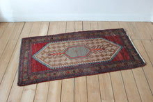 Load image into Gallery viewer, Red blue vintage antique rug carpet