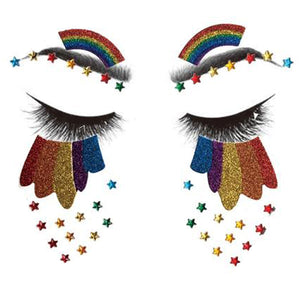 Rainbow-Pride Face Tattoos