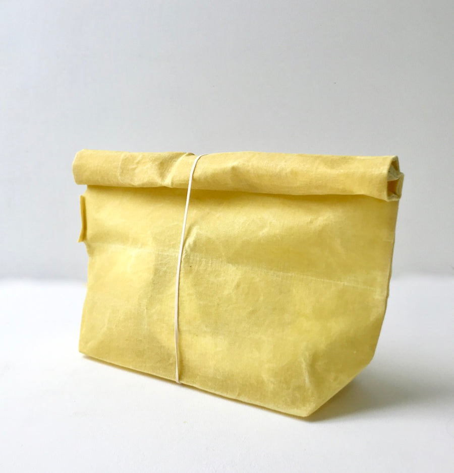 Waxed Linen Roll-Top Bag - Citrus