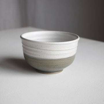 Fenna Dip Bowl - White & Dark Green