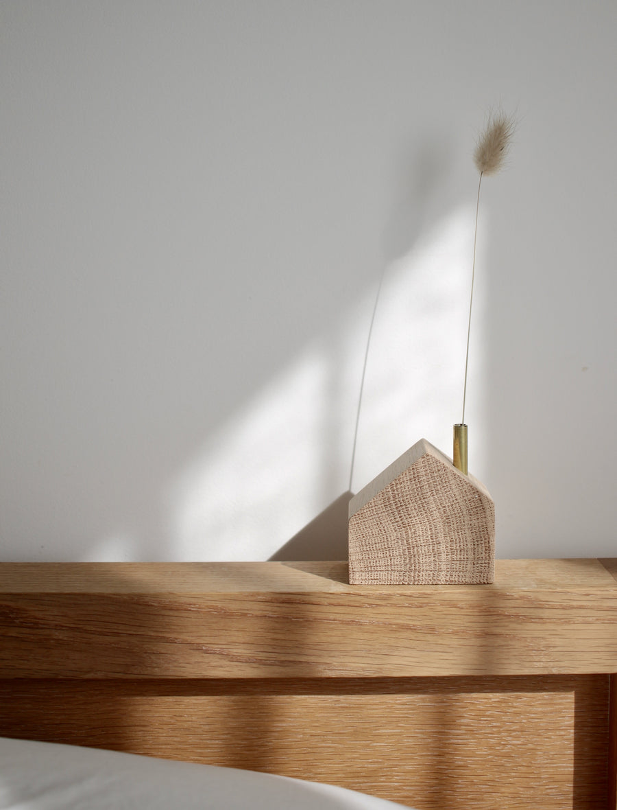 Wooden House Candle Holder