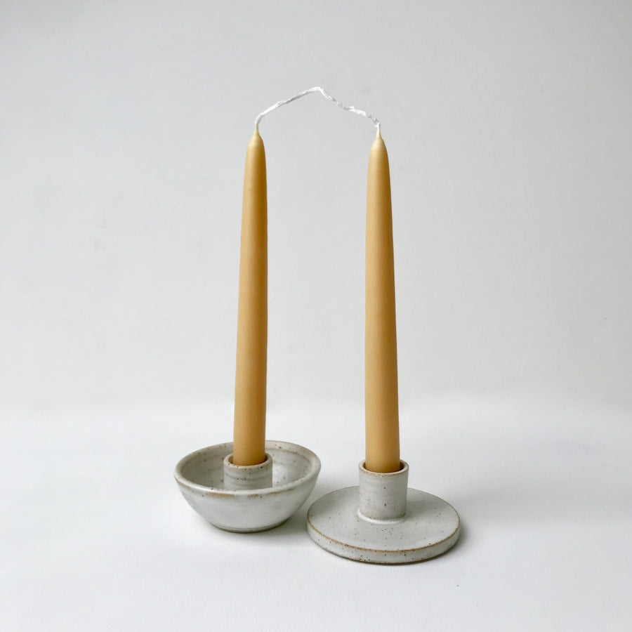 Standard Beeswax Dinner Candle - Pair