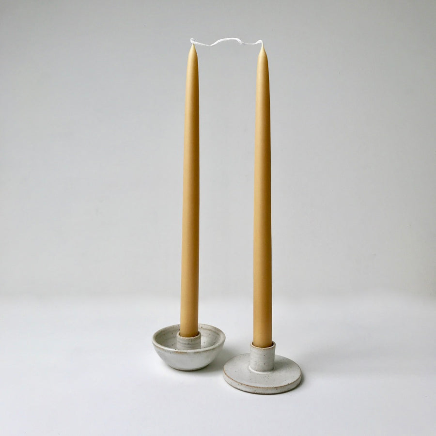 Large Beeswax Dinner Candle - Pair