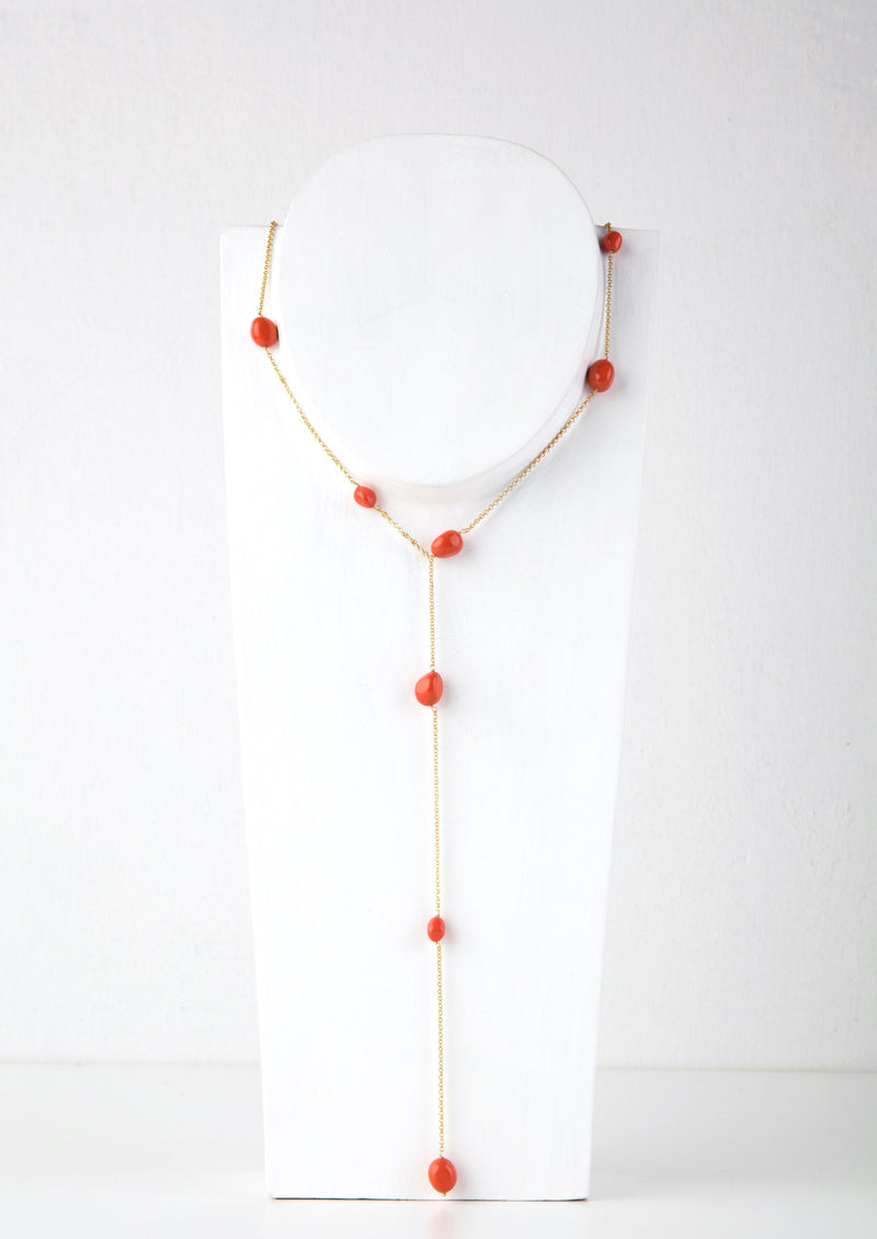WATERFALL ORANGE NECKLACE - JUSTBRAZIL