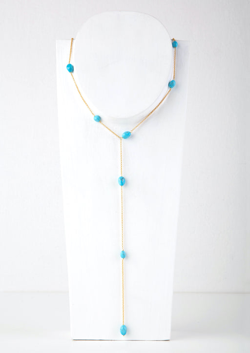 WATERFALL TURQUOISE NECKLACE - JUSTBRAZIL