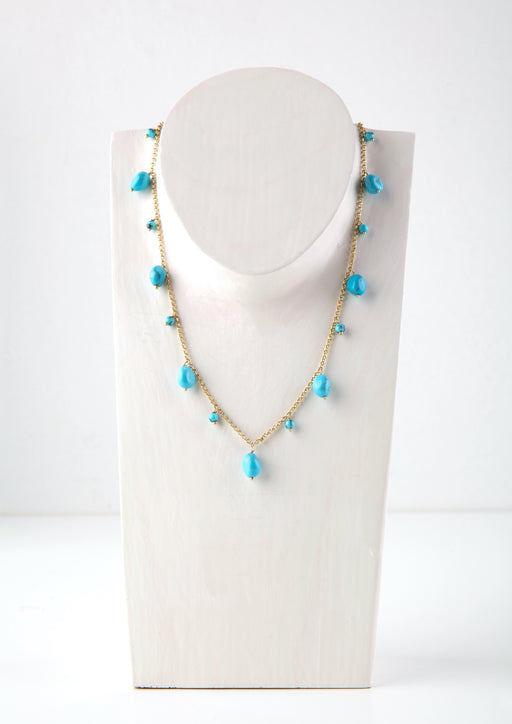 SEA DREAM TURQUOISE SHORT NECKLACE - JUSTBRAZIL