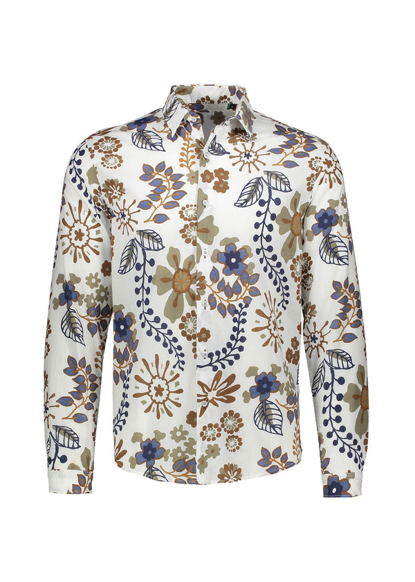 FLOWER LAND MAO MEN'S SHIRT - JUSTBRAZIL