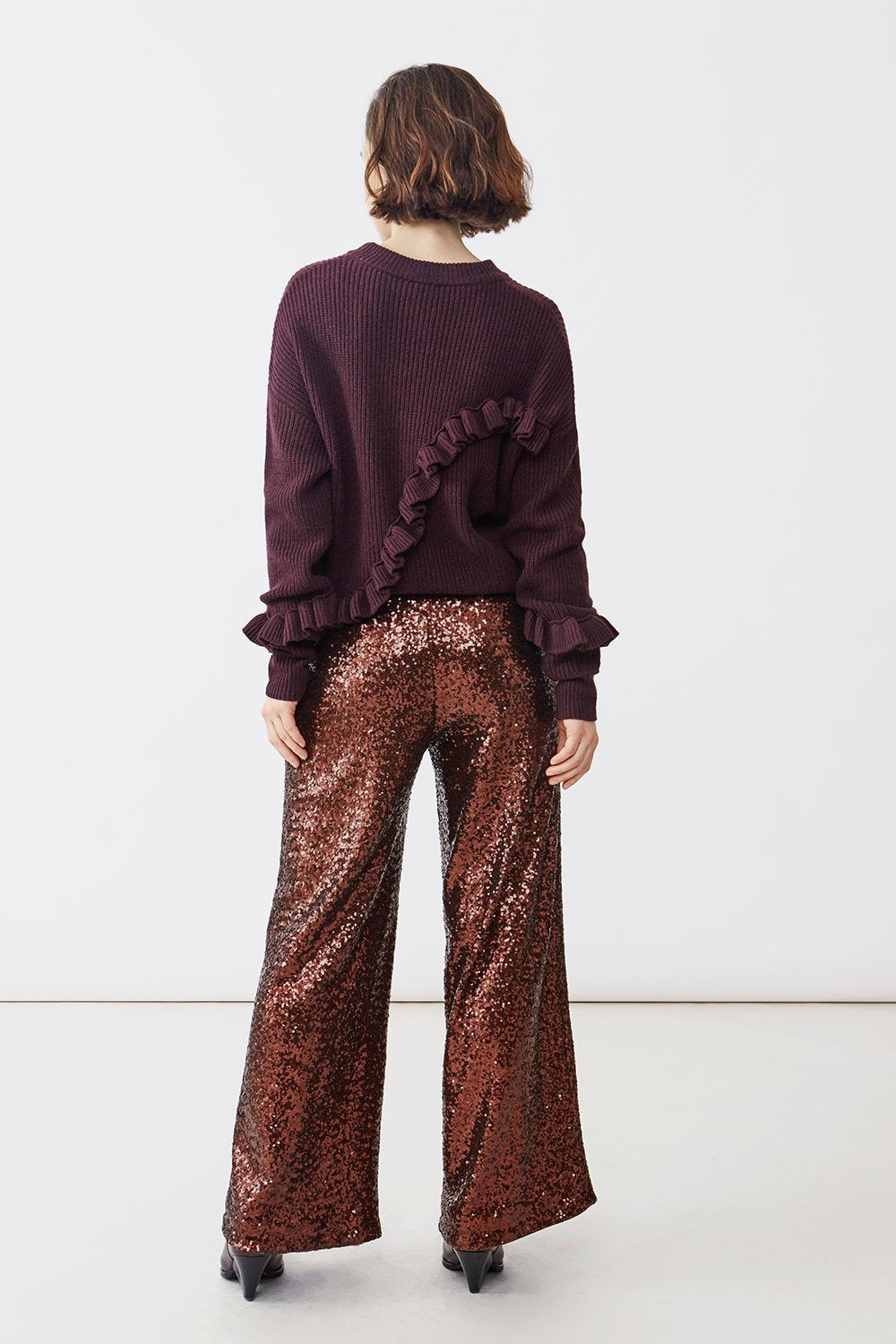 MAY SEQUIN BROWN TROUSERS - JUSTBRAZIL