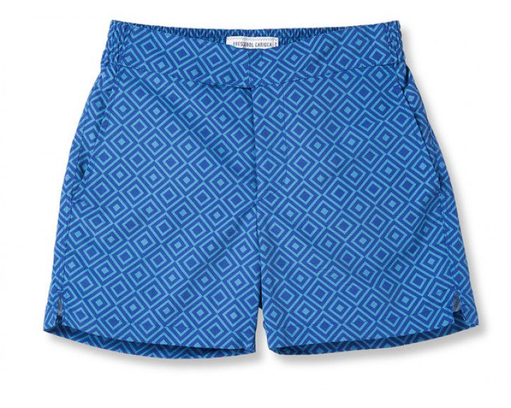ANGRA LARGE  NAVY / REEF BLUE CLASSIC SHORT - just-brazil