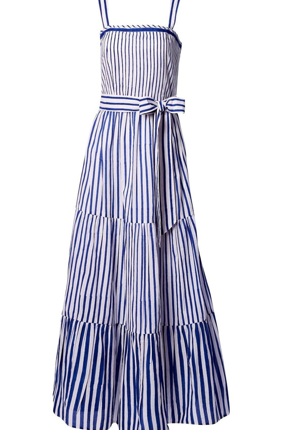BETTY INDIGO STRIPES DRESS - JUSTBRAZIL