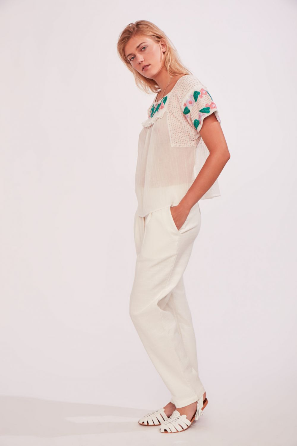 BAY COTTON PANT WHITE - just-brazil