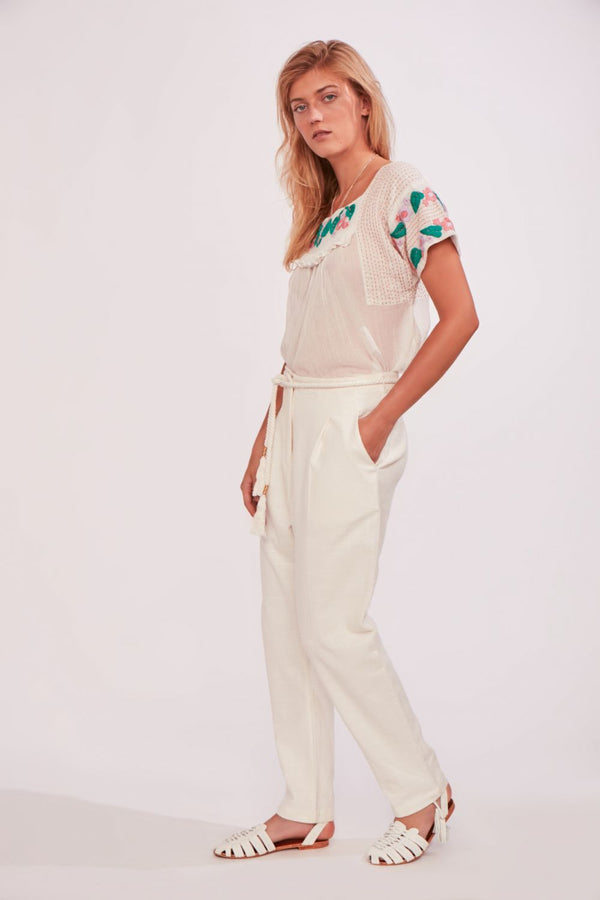 BAY COTTON PANT WHITE - JUSTBRAZIL