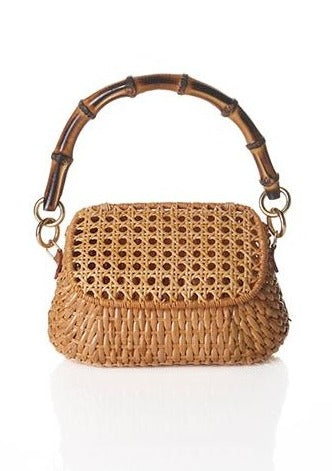 BROOKE LIGHT HONEY WICKER BAG - JUSTBRAZIL