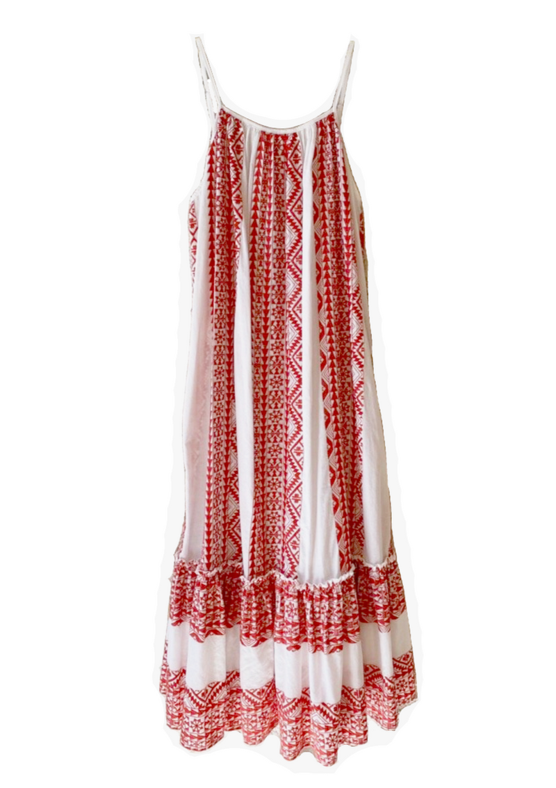APHRODITE WHITE RED DRESS - JUSTBRAZIL