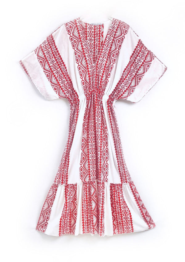 MELPOMENI WHITE/RED DRESS - JUSTBRAZIL