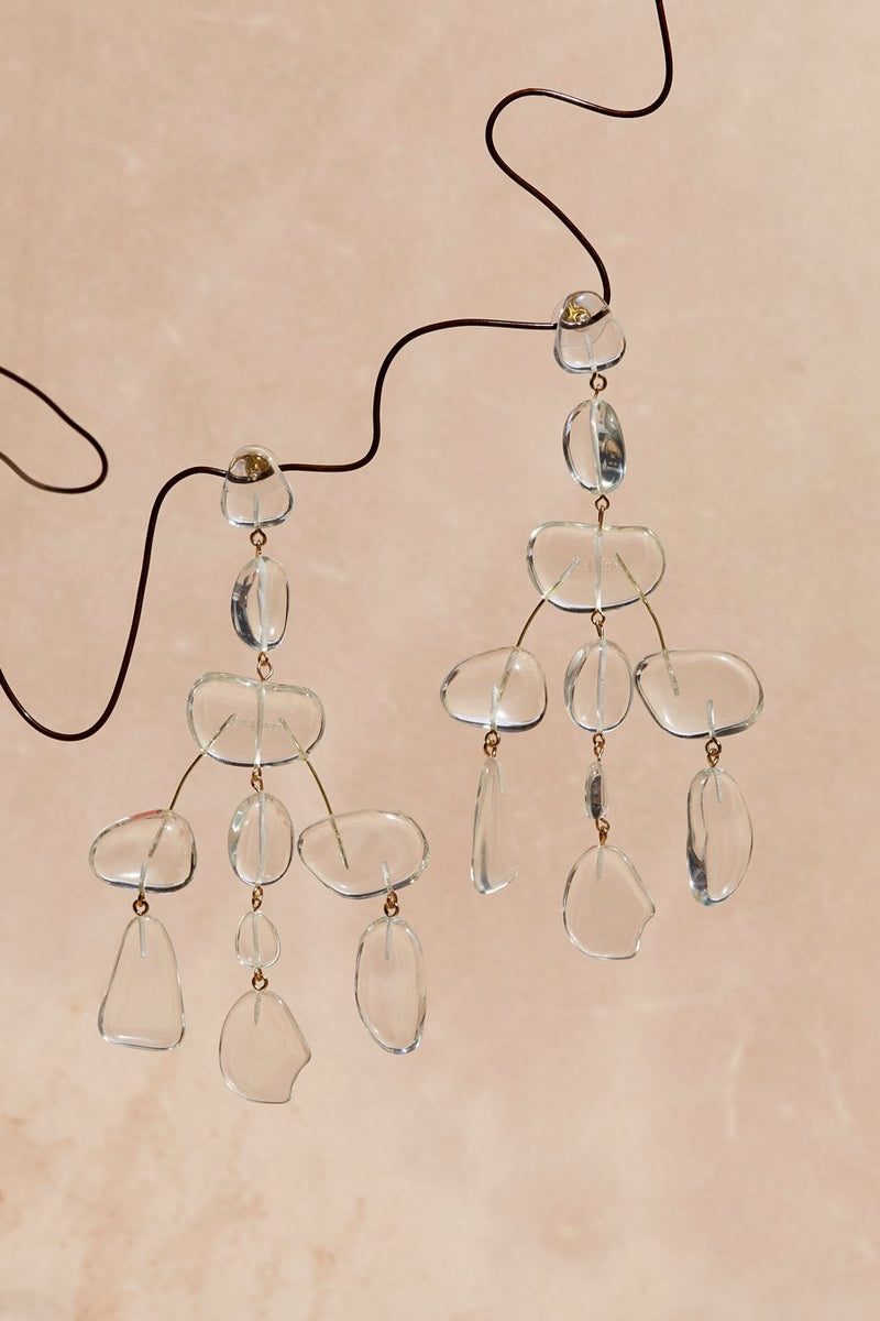 SLOAN ROCK CLEAR EARRINGS - JUSTBRAZIL