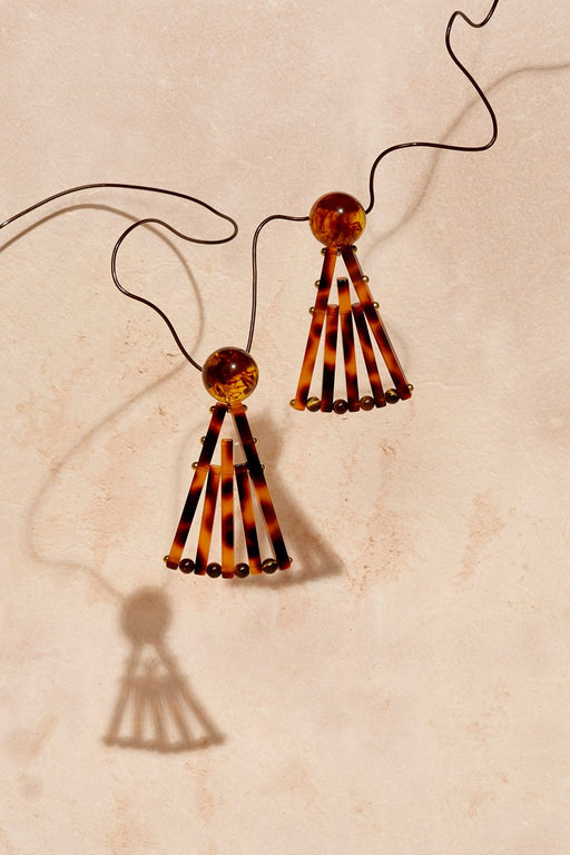 ACRYLIC FAN EARRINGS - just-brazil