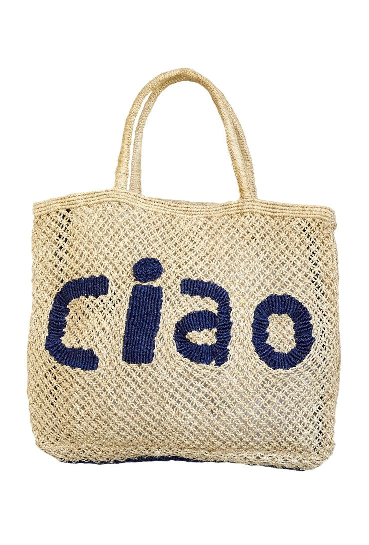 CIAO LARGE JUTE BAG - JUSTBRAZIL