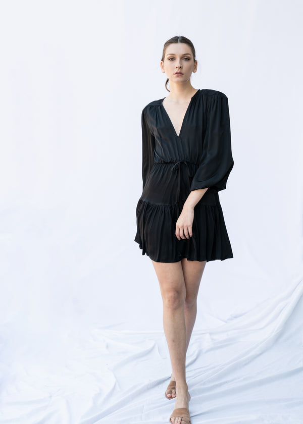 GORGO SHORT BLACK DRESS - JUSTBRAZIL