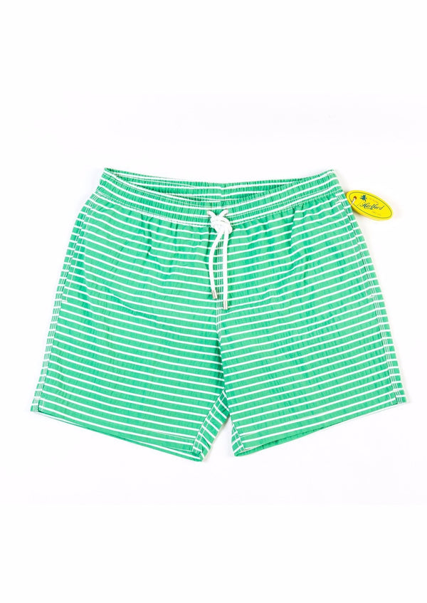 STRIPED GREEN SUMMER SWIMWEAR - JUSTBRAZIL