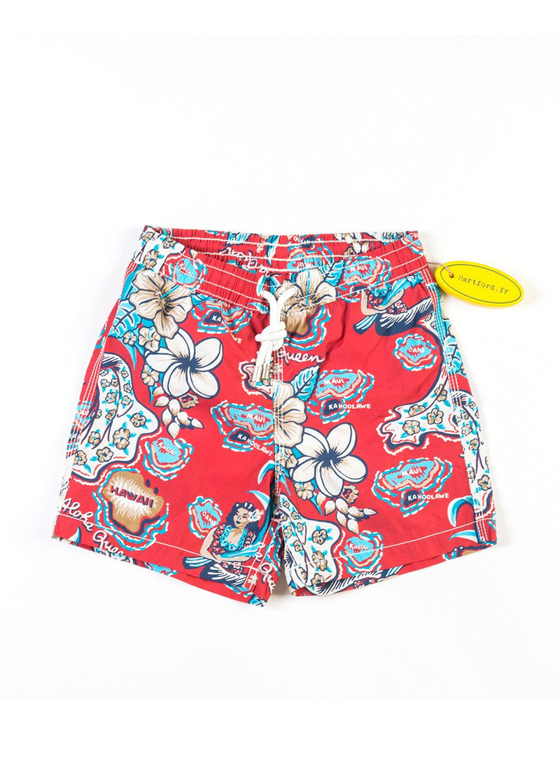 RED HAWAII BOY SWIMWEAR - JUSTBRAZIL