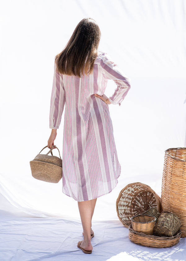 PURPLE STRIPED DREAM DRESS - JUSTBRAZIL