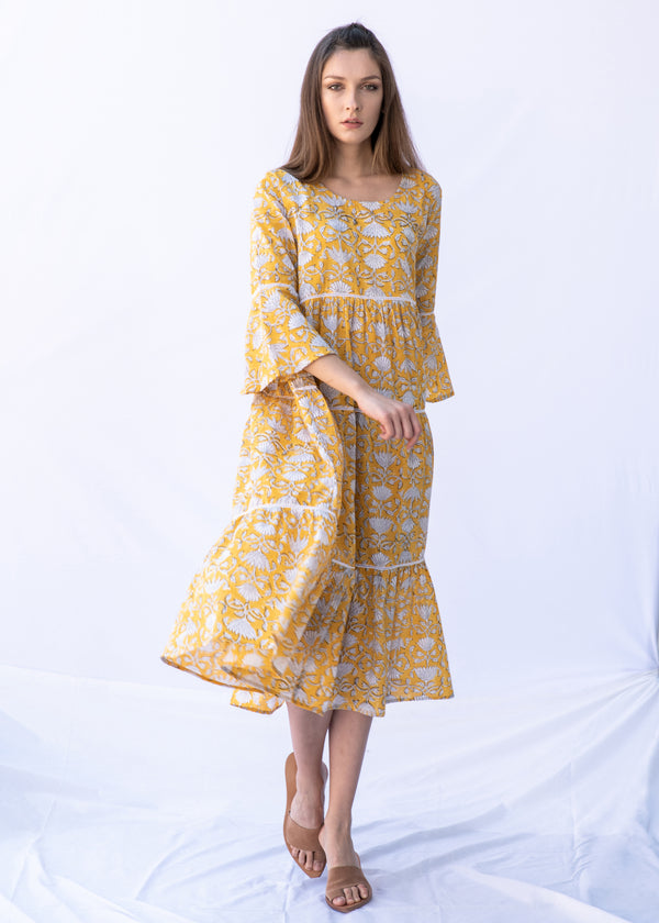 RITA YELLOW LONG DRESS - JUSTBRAZIL