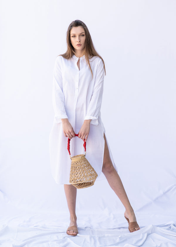 LYNX WHITE SHIRT DRESS - JUSTBRAZIL