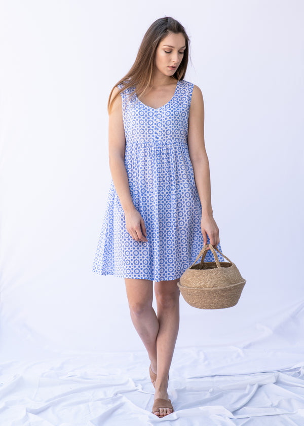 MAYA BABY BLUE DRESS - JUSTBRAZIL