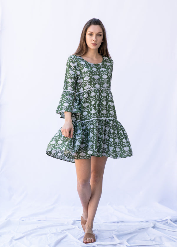 EPHIE GREEN SHORT DRESS - JUSTBRAZIL