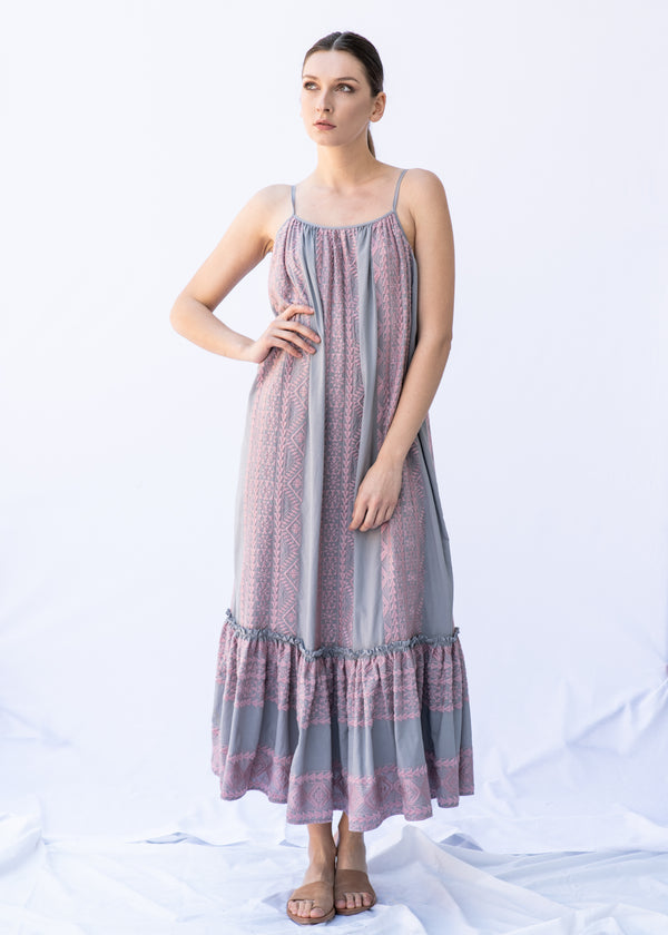 APHRODITE GREY PINK  DRESS - JUSTBRAZIL
