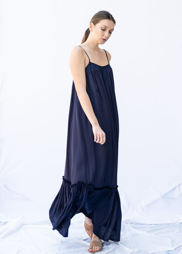 MYRTW BACKLESS BLUE LONG DRESS - JUSTBRAZIL