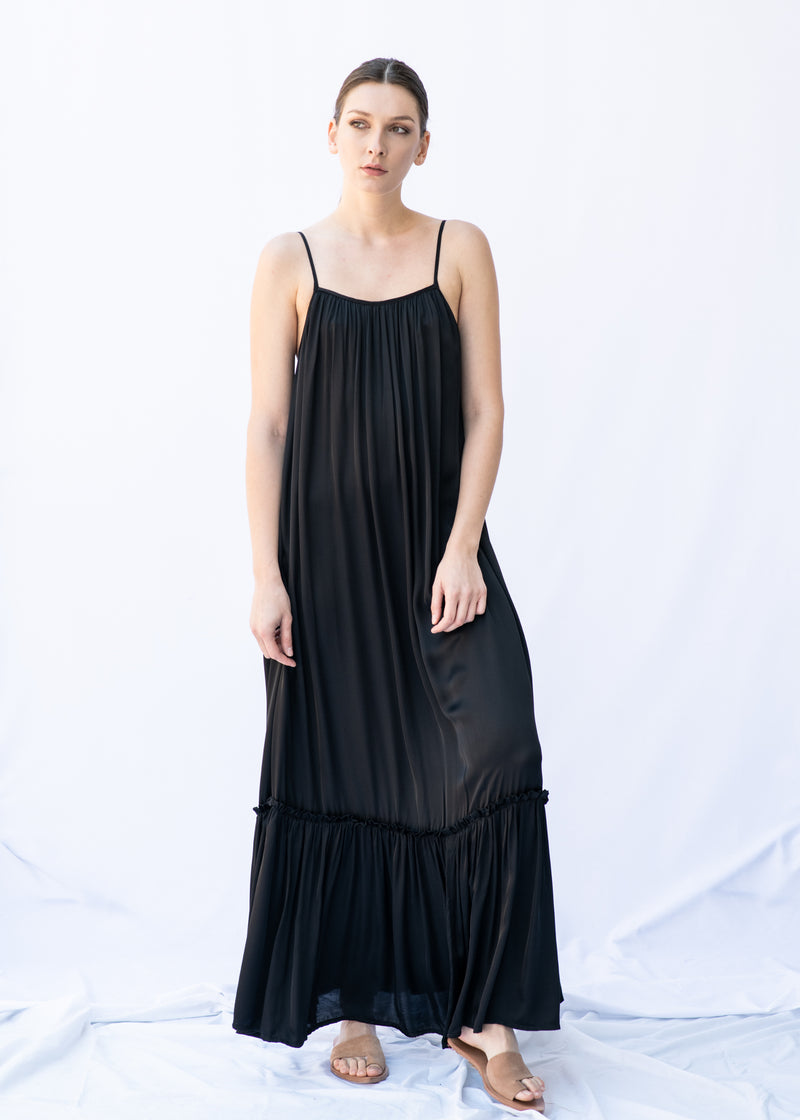 MYRTW BACKLESS BLACK LONG DRESS - JUSTBRAZIL