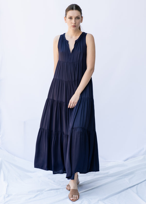 GORGO LONG BLUE DRESS - JUSTBRAZIL