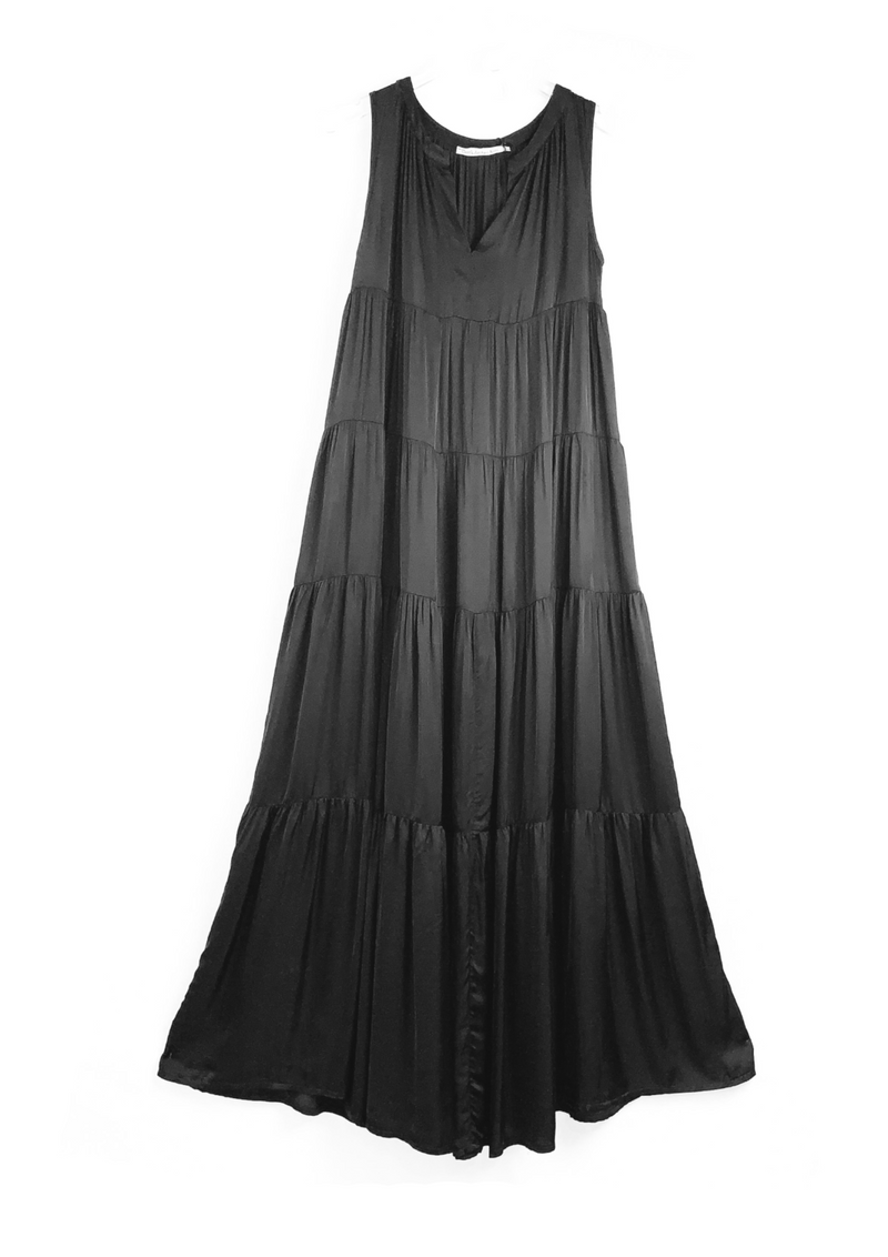 GORGO LONG BLACK DRESS - JUSTBRAZIL