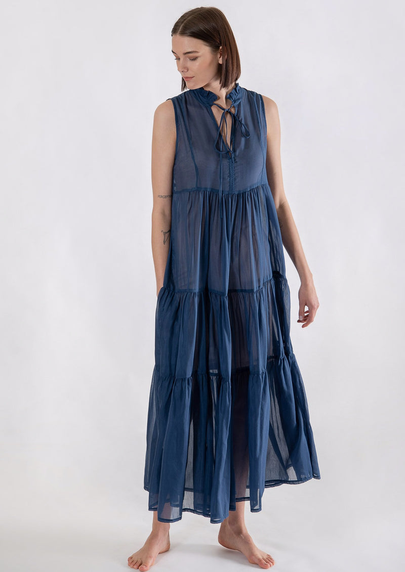 TERINA BLUE LONG DRESS