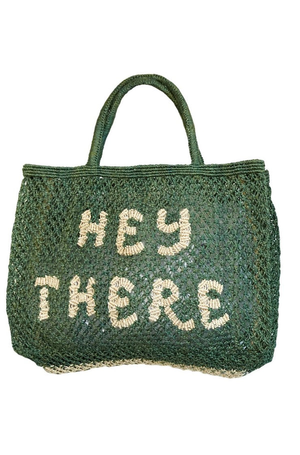 HEY THERE SMALL JUTE BAG - JUSTBRAZIL