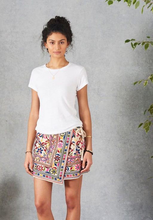 ICHI EMBROIDERED MULTI SKIRT